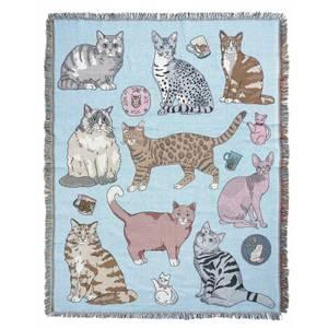 Karen Mabon Cat Lovers Throw - 178x138cm