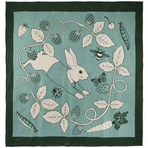 Karen Mabon x Peter Rabbit Throw - Green - 180x180cm