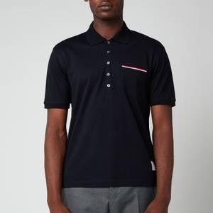 Thom Browne Men's Fine Mercerized Pocket Polo Shirt - Navy