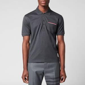 Thom Browne Men's Fine Mercerized Pocket Polo Shirt - Dark Grey
