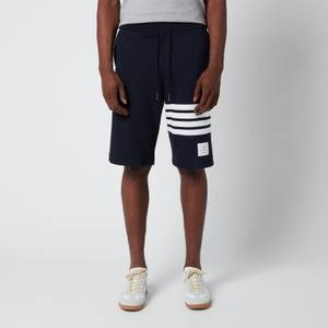 Thom Browne Men's Engineered Four-Bar Classic Loopback Sweat Shorts - Navy