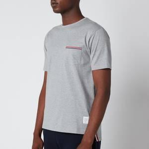 Thom Browne Men's Jersey Pocket T-Shirt - Light Grey