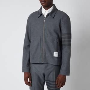 Thom Browne Men's Tonal Engineered Four-Bar Tech Twill Coach Jacket - Medium Grey