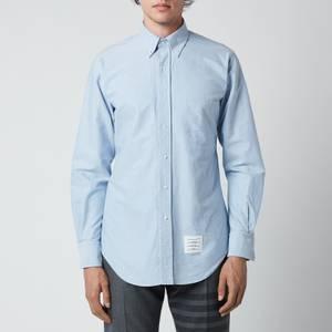 Thom Browne Men's Tricolour Placket Classic Fit Shirt - Light Blue