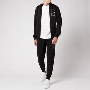 EA7 Men's Visibility French Terry Tracksuit - Black