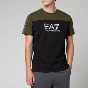 EA7 Men's Athletic Colour Block T-Shirt - Black