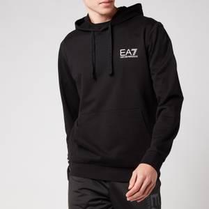 EA7 Men's Terry Train Series Sleeve Logo Hoodie - Black