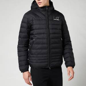 EA7 Men's Mountain Hooded Down Jacket - Black