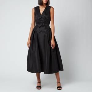 Self-Portrait Women's Black Bow Detail Midi Dress - Black