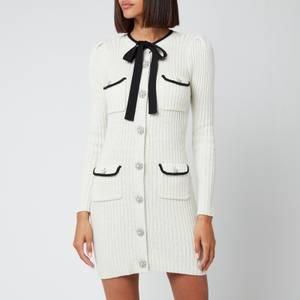 Self-Portrait Women's Lurex Knit Dress - Ivory