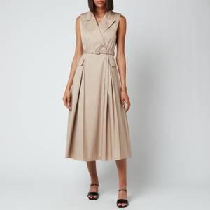 Self-Portrait Women's Sleevless Tailored Midi Dress - Latte