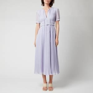 Self-Portrait Women's Chiffon Midi Dress - Lilac