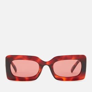Le Specs Women's Oh Damn! Rectangular Sunglasses - Toffee Tort