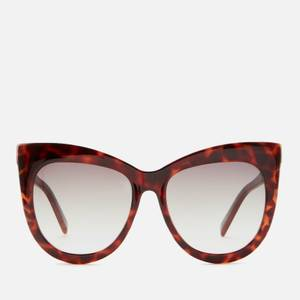 Le Specs Women's Hidden Treasure Cat Eye Sunglasses - Tort