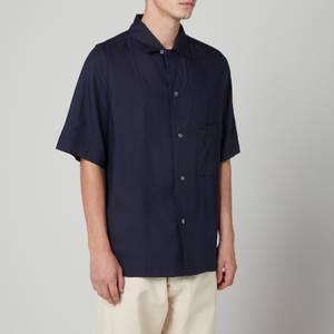 Maison Margiela Men's Short Sleeve Shirt - Dark Blue
