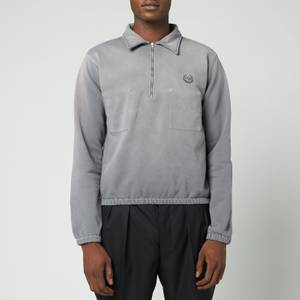 Maison Margiela Men's Half Zip Sweatshirt - Storm
