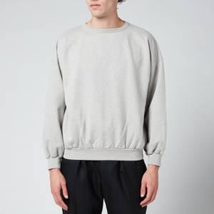 Maison Margiela Men's Relaxed Drop Shoulder Sweatshirt - Grey Melange