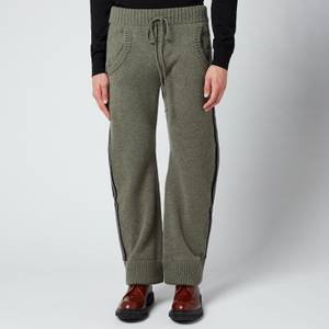 Maison Margiela Men's Jersey Ribbed Cuff Trousers - Military/Navy