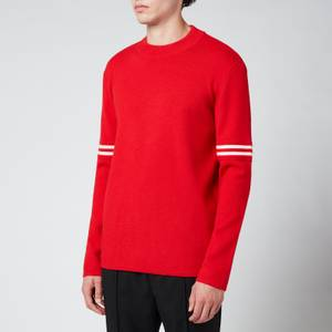 Maison Margiela Men's Crew Neck Knitted Sweatshirt - Red/White