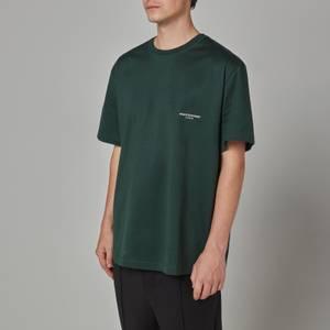Wooyoungmi Men's Box Logo T-Shirt - Green