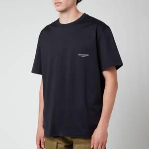 Wooyoungmi Men's Box Logo T-Shirt - Navy