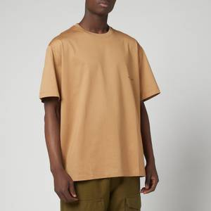 Wooyoungmi Men's Back Patch And Print T-Shirt - Camel