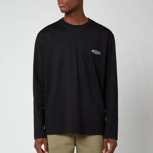 Wooyoungmi Men's Long Sleeve Back Logo T-Shirt - Black