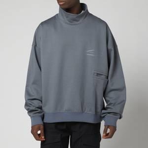 Wooyoungmi Men's High Neck Sweatshirt - Grey