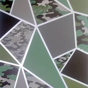 Arthouse Camo Fragments Green Wallpaper