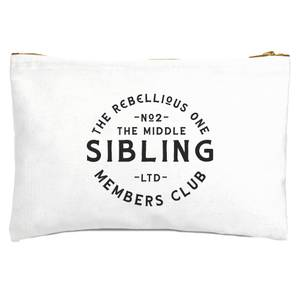 The Middle Sibling The Rebellious One Zipped Pouch