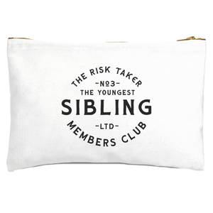 The Youngest Sibling The Risk Taker Zipped Pouch