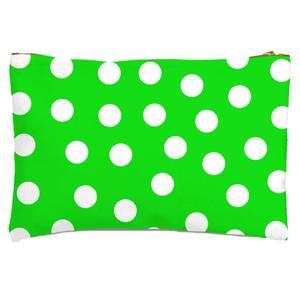 Green Polka Dots Zipped Pouch