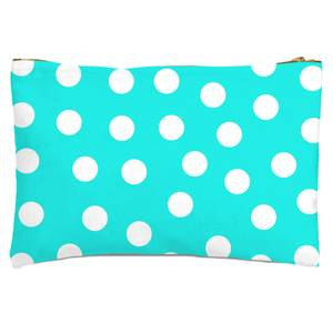 Turquoise Polka Dots Zipped Pouch