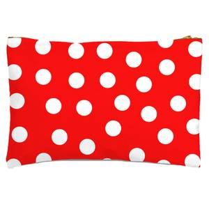 Red Polka Dots Zipped Pouch
