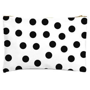 Monochrome Polka Dots Zipped Pouch