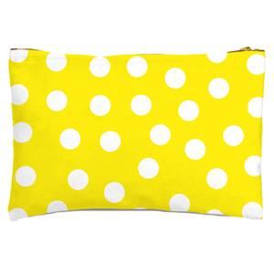 Yellow Polka Dots Zipped Pouch