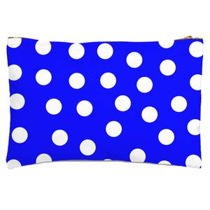 Bright Blue Polka Dots Zipped Pouch