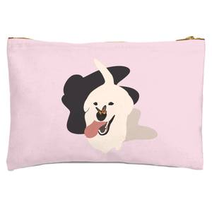 Dog With Butterfly Nose Zipped Pouch