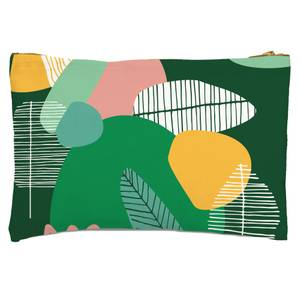 Earth Garden Print Zipped Pouch
