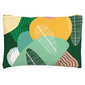 Abstract Leaves Zipped Pouch