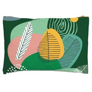 Abstract Leaves And Feathers Zipped Pouch