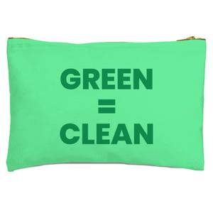 Green = Clean Zipped Pouch