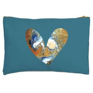 Heart Earth Zipped Pouch
