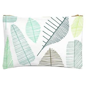 Mixed Leaves Zipped Pouch