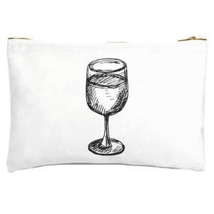 Wine Glass Zipped Pouch