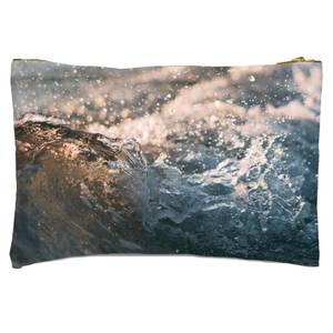 Wave Texture Zipped Pouch