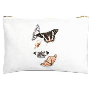 Isolated Butterflies Zipped Pouch