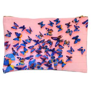 Girly Butterfly Crowd Zipped Pouch