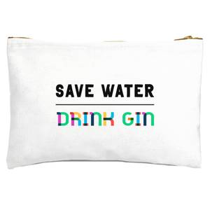 Save Water, Drink Gin Zipped Pouch