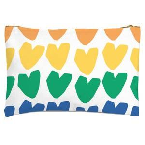 Rainbow Hearts Zipped Pouch